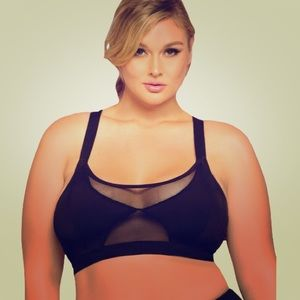 Other - NEW Black plus 1-2x 16 18 sheer active sports bra